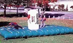 First Down Inflatable Football Bungee Game